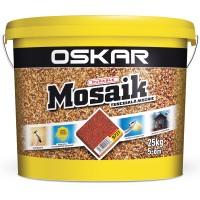 Tencuiala decorativa acrilica, interior / exterior, Oskar Mosaik 9731, mozaicata, 25 kg