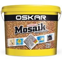 Tencuiala decorativa acrilica, interior / exterior, Oskar Mosaik 9701, mozaicata, 25 kg