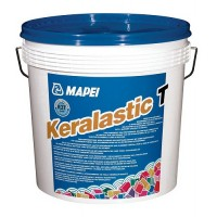 Adeziv flexibil pentru gresie si faianta Mapei Keralastic T, interior / exterior, gri, 10 kg