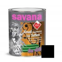 Vopsea alchidica pentru lemn / metal, Savana cu teflon, interior / exterior, neagra, 0.75 L