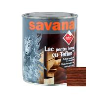 Lac pentru lemn Savana cu Teflon, mahon, interior / exterior, 0.75 L