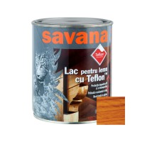 Lac pentru lemn Savana cu Teflon, cires, interior / exterior, 0.75 L