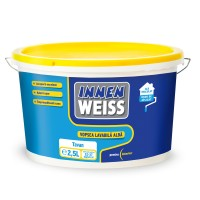 Vopsea lavabila interior, Innenweiss, alba, 2.5 L