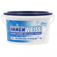 Vopsea lavabila interior, Innenweiss, alba, 8.5 L