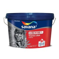 Vopsea superlavabila interior, Savana Ultra Rezist cu Teflon, alba, 2.5 L
