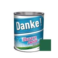Vopsea alchidica pentru lemn / metal, Danke, exterior, verde inchis, 0.75 L