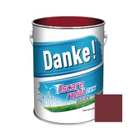 Vopsea alchidica pentru lemn / metal, Danke, exterior, rosu oxid, 4 L