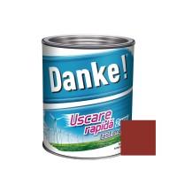 Vopsea alchidica pentru lemn / metal, Danke, exterior, rosu inchis, 2.5 L