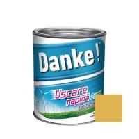 Vopsea alchidica pentru lemn / metal, Danke, exterior, galben, 0.75 L