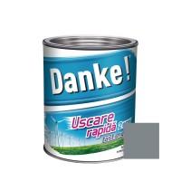 Vopsea alchidica pentru lemn / metal, Danke, exterior, gri metal, 0.75 L