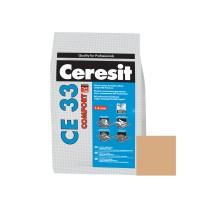 Chit de rosturi gresie si faianta Ceresit CE 33, caramel,  interior, 2 kg