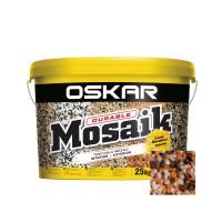 Tencuiala decorativa acrilica, interior / exterior, Oskar Mosaik 9706, mozaicata, 25 kg