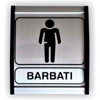 Indicator semnalizare Toaleta barbati, aluminiu, 12 x 10 cm