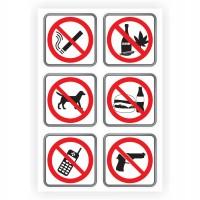 Indicator semnalizare Interdictie, autocolant, 30 x 20 cm, set 6 bucati