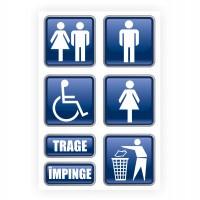 Indicator informare spatii comerciale Creative sign, autocolant, forma dreptunghiulara, 30 x 20 cm, set 7 indicatoare