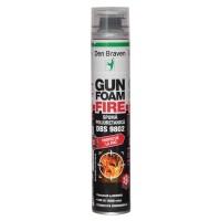 Spuma poliuretanica cu protectie la foc, aplicare cu pistol, Den Braven Gun Foam Fire DBS 9802, 700 ml
