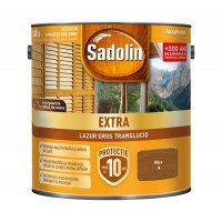 Lac / lazura pentru lemn, Sadolin Extra, nuc, interior / exterior, 2.5 L