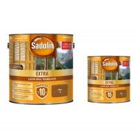 Lac / lazura pentru lemn, Sadolin Extra, nuc, interior / exterior, 2.5 L + 0.75 L