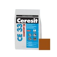 Chit de rosturi gresie si faianta Ceresit CE 33, siena,  interior, 2 kg