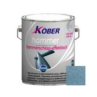 Vopsea alchidica pentru metal Kober Hammer, efect lovitura de ciocan, interior / exterior, albastru luminos E81605, 2.5 L