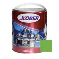 Vopsea alchidica pentru lemn / metal, Kober Ideea, interior / exterior, verde deschis E51521, 4 L