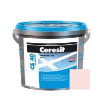 Chit de rosturi gresie si faianta Ceresit CE 40, rosa, interior / exterior, 5 kg