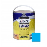 Vopsea alchidica pentru lemn / metal, Pitura, interior / exterior, albastru luminos V53633, 4 L