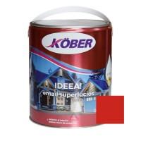 Vopsea alchidica pentru lemn / metal, Kober Ideea, interior / exterior, rosu E51240, 4 L
