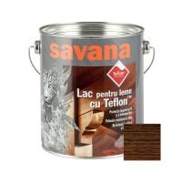 Lac pentru lemn Savana cu Teflon, nuc, interior / exterior, 2.5 L