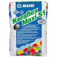 Adeziv flexibil pentru gresie si faianta Mapei Keraflex Maxi S1, interior / exterior, alb, 23 kg