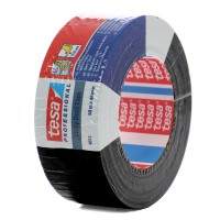 Banda adeziva, pentru reparatii, din textil laminat cu PE, negru, Tesa 4613, 4.8 cm x 50 m