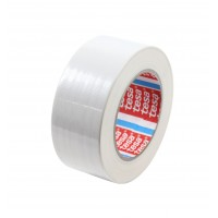 Banda adeziva, pentru reparatii, din textil, alb, tesa 4688, 5 cm x 25 m