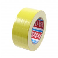 Banda adeziva, pentru reparatii, din textil, galben, tesa 4688, 5 cm x 25 m