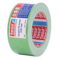 Banda adeziva, pentru reparatii, din textil, verde, tesa 4688, 5 cm x 25 m