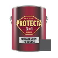Vopsea alchidica pentru metal, Protecta 3 in 1, interior / exterior, argintiu, 2.5 L