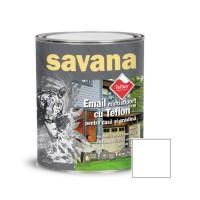 Vopsea acrilica pentru lemn / metal, Savana, interior / exterior, pe baza de apa, alba, 0.75 L