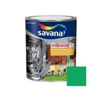 Vopsea acrilica pentru lemn / metal, Savana Ultrarezist cu Teflon, interior / exterior, pe baza de apa, verde primavara, 0.75 L