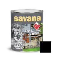 Vopsea acrilica pentru lemn / metal, Savana, interior / exterior, pe baza de apa, neagra, 0.75 L