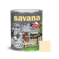 Vopsea acrilica pentru lemn / metal, Savana, interior / exterior, pe baza de apa, crem, 0.75 L