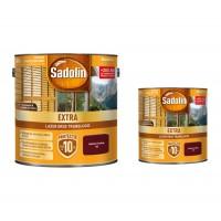 Lac / lazura pentru lemn, Sadolin Extra, mahon inchis, interior / exterior, 2.5 L + 0.75 L