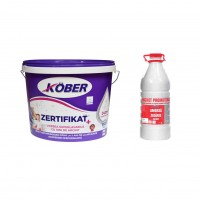 Vopsea lavabila interior, Kober Zertifikat Plus, alba, 15 L + amorsa 3 L