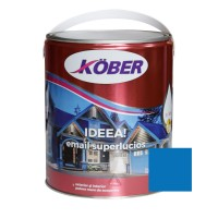 Vopsea alchidica pentru lemn / metal, Kober Ideea, interior / exterior, albastra, 4 L