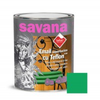 Vopsea alchidica pentru lemn / metal, Savana cu teflon, interior / exterior, verde, 0.75 L