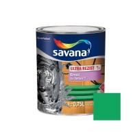 Vopsea alchidica pentru lemn / metal, Savana Ultrarezist cu teflon, interior / exterior, verde, 0.75 L