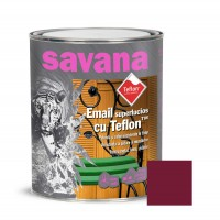 Vopsea alchidica pentru lemn / metal, Savana cu teflon, interior / exterior, grena, 0.75 L