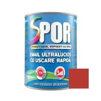 Vopsea alchidica pentru metal Spor, interior / exterior, rosie, 0.75 L
