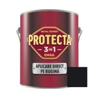 Vopsea alchidica pentru metal, Protecta 3 in 1, interior / exterior, neagra, 2.5 L