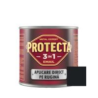 Vopsea alchidica pentru metal, Protecta 3 in 1, interior / exterior, neagra, 0.5 L