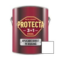 Vopsea alchidica pentru metal, Protecta 3 in 1, interior / exterior, alba, 2.5 L