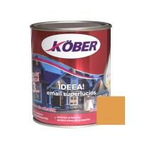 Vopsea alchidica pentru lemn / metal, Kober Ideea, interior / exterior, ocru luminos, 0.75 L